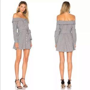 L'Academie Revolve Jann Button Up Gingham Dress